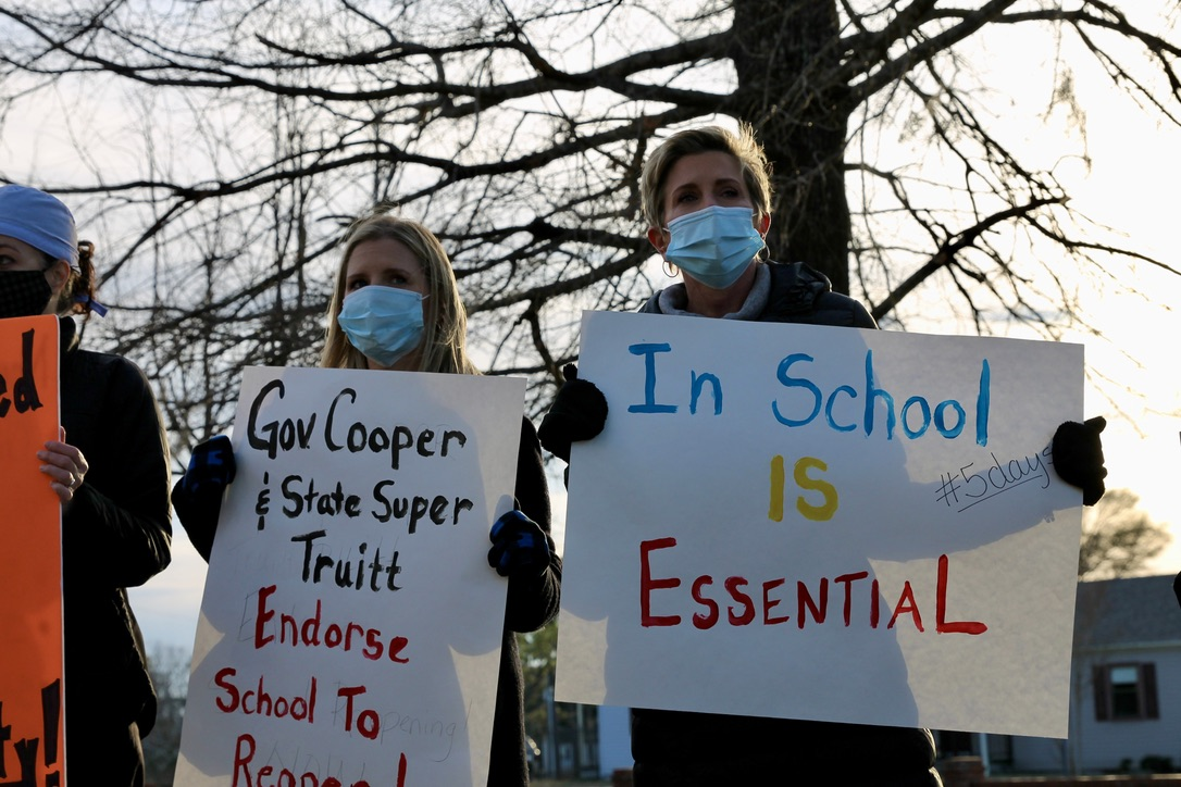 protest plan a nhcs board of education schools(Port City Daily photo/Alexandria Sands)
