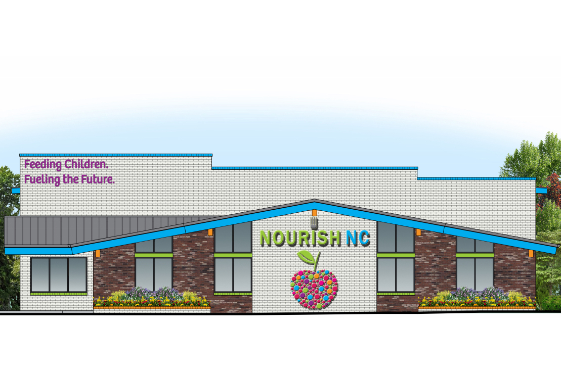 NourishNC is breaking ground on a new 12,000 square foot facility on Market Street to meet the organization's growing needs. (Port City Daily photo/Courtesy NourishNC)