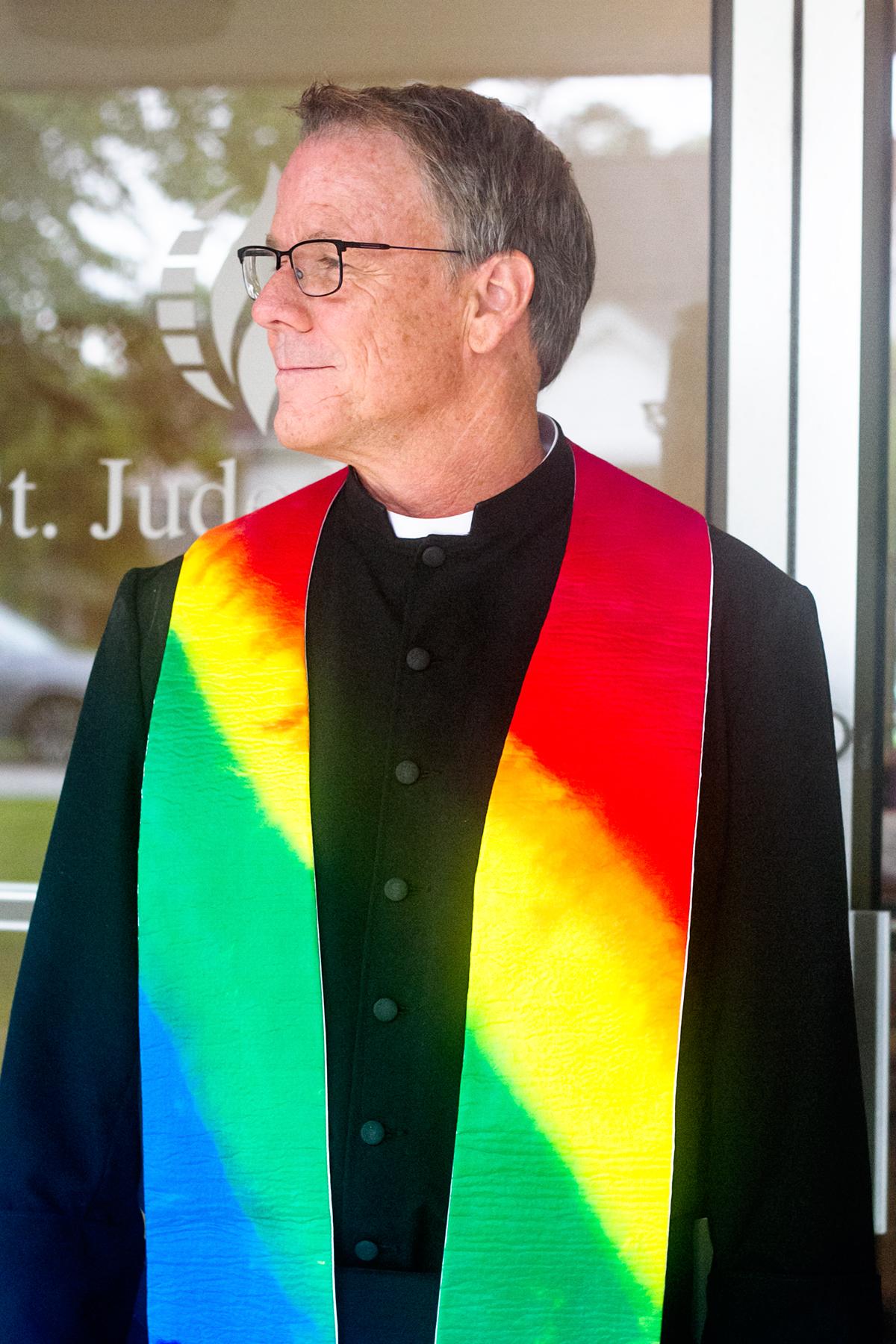 Rev. John McLaughlin has lead St. Jude's MCC in Wilmington for over a decade. (Port City Daily photo/Johanna F. Still)